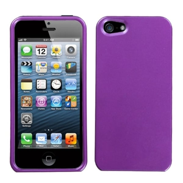 BasAcc Solid Purple Phone Protector Case for Apple iPhone 5