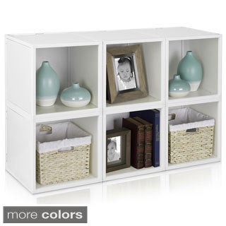 Stackable Eco-friendly 6-box Storage Cube with Optional Door