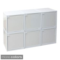 zBoard Box Storage Cabinets (Set of 6)