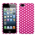 BasAcc Pink/ White Dots Phone Protector Case for Apple iPhone 5