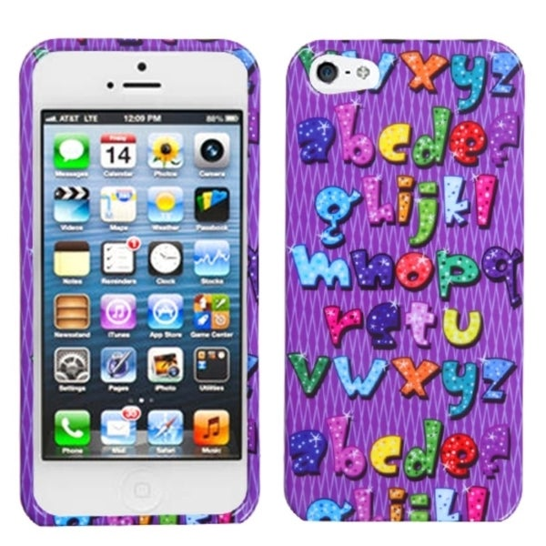 INSTEN Alphabet Bling Phone Protector Phone Case Cover for Apple iPhone 5