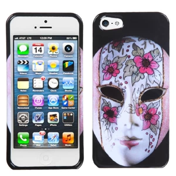 INSTEN Intellectual Beauty Mask Phone Case Cover for Apple iPhone 5