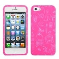 BasAcc School Life/ Pink Phone Protector Case for Apple iPhone 5
