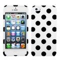 BasAcc Black/ White Polka Dots Phone Case for Apple iPhone 5