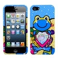 BasAcc Blue Lotus Frog Phone Protector Case for Apple iPhone 5