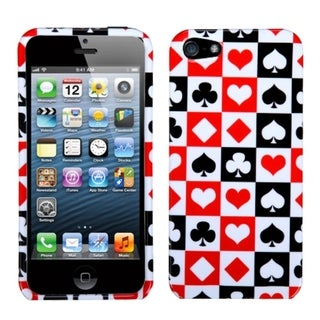 INSTEN Card Suits Phone Protector Phone Case Cover for Apple iPhone 5