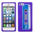 BasAcc Electric Purple Retro Cassette Skin Case for Apple iPhone 5