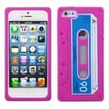 BasAcc Hot Pink Retro Cassette Skin Case for Apple iPhone 5