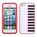BasAcc Red Piano Pastel Skin Case for Apple iPhone 5