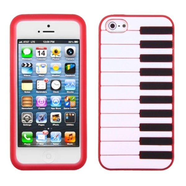 INSTEN Red Piano Pastel Skin Phone Case Cover for Apple iPhone 5