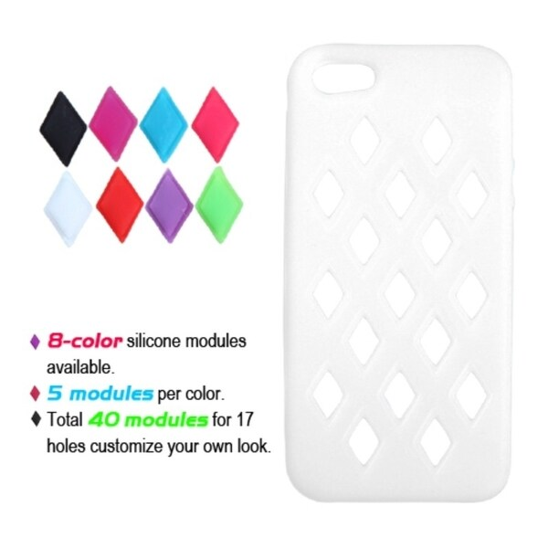 INSTEN White Module Skin Phone Case Cover for Apple iPhone 5