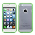 BasAcc Clear/ Green Horizontal Stripes Gummy Case for Apple iPhone 5