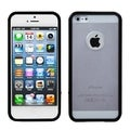 BasAcc Transparent Clear/ Solid Black Gummy Case for Apple iPhone 5