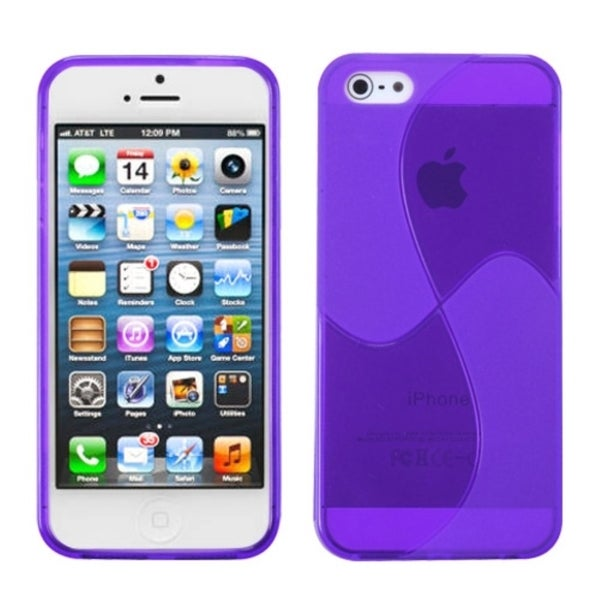 INSTEN Purple Windmill Candy Skin Phone Case Cover for Apple iPhone 5