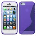 BasAcc Purple S Shape Candy Skin Case for Apple iPhone 5