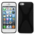 BasAcc Black X Shape Candy Skin Case for Apple iPhone 5