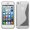 BasAcc Transparent Clear S Shape Candy Skin Case for Apple iPhone 5