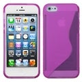 BasAcc Hot Pink S Shape Candy Skin Case for Apple iPhone 5