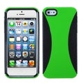 BasAcc Green/ Black Mixy Phone Protector Case for Apple iPhone 5