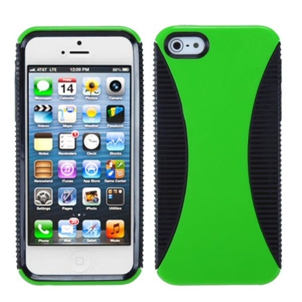 INSTEN Green/ Black Mixy Phone Protector Phone Case Cover for Apple iPhone 5