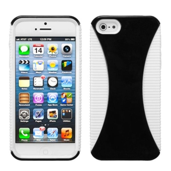 INSTEN Black/ White Mixy Phone Protector Phone Case Cover for Apple iPhone 5/ 5S