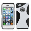 BasAcc White/ Black Cragsman Mixy Rubberized Case for Apple iPhone 5