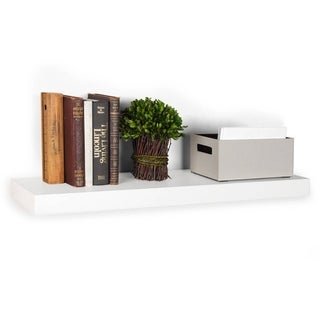 Eco-friendly 10x36-inch Wall Mount Floating Decorative zBoard Shelf
