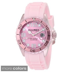 Haurex Italy Ink Women's Aluminum Date Unidirectional Bezel Watch