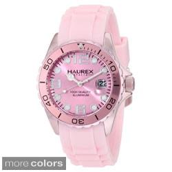 Haurex Italy Ink Women's Aluminum Date Unidirectional Bezel Watch