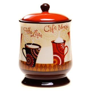 Certified International Cup of Joe Biscuit Jar