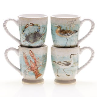 Certified International Beach Cottage Mugs (Set of 4)