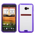 BasAcc Transparent Clear/ Purple Case for HTC EVO 4G LTE