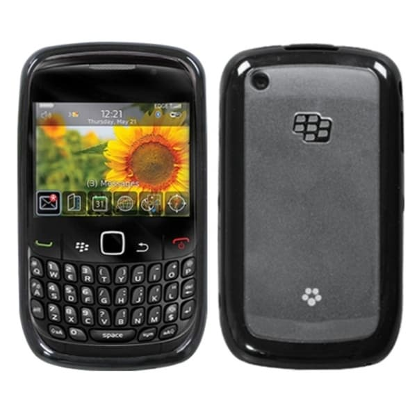 INSTEN Clear/ Black Phone Case Cover for Blackberry 8520/ 8530/ 9300/ 9330