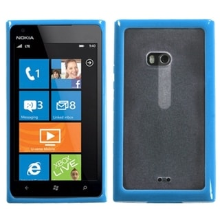 INSTEN Transparent Clear/ Baby Blue Phone Case Cover for Nokia 900 Lumia