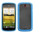 BasAcc Transparent Clear/ Baby Blue Case for HTC One S