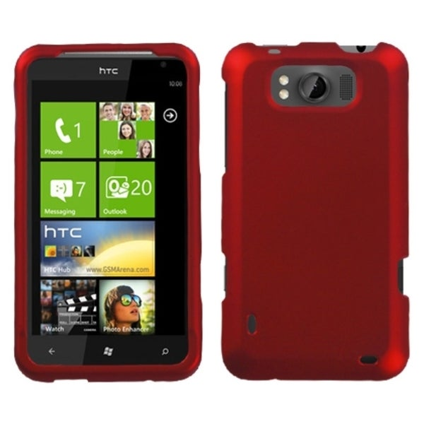 INSTEN Titanium Red Phone Case Cover for HTC X310a TITAN