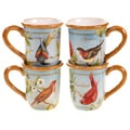 Certified International Botanical Birds Mugs (Set of 4)
