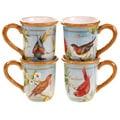 Certified International Botanical Birds Mugs (Set of 4)