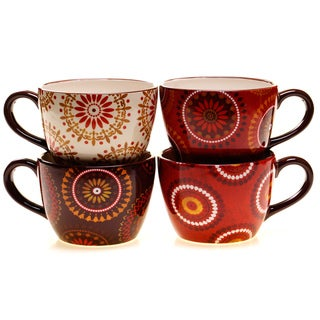 Certified International Cup of Joe Jumbo Cups (Set of 4)