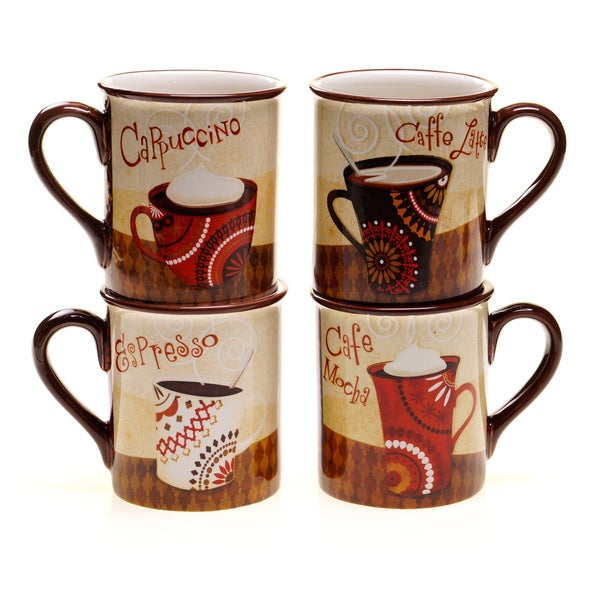 Certified International Cup of Joe Mug (Set of 4)