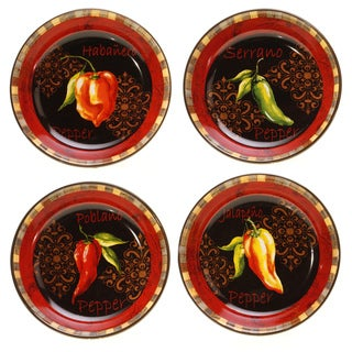 Certified International Chili Pepper Soup/ Pasta Bowls (Set of 4)