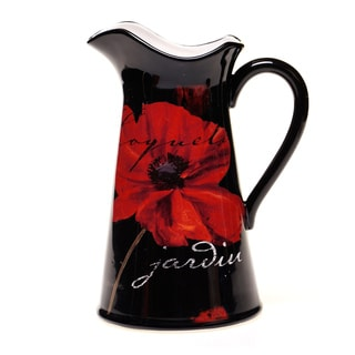 Certified International Midnight Poppies Pitcher