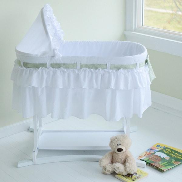White Baby Bassinet Nursery Infant Cradle Newborn Portable