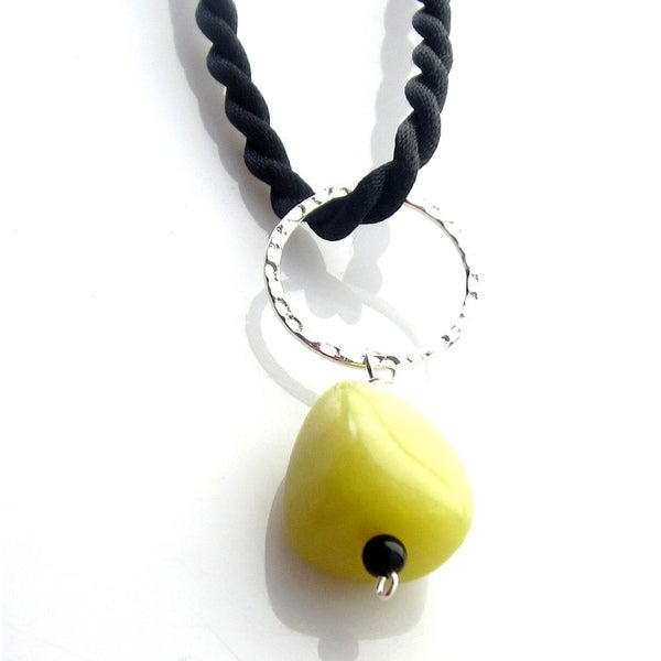 Olive Green Pebble Necklace