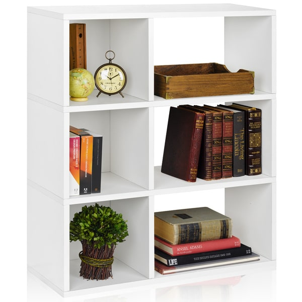 Sutton 3-shelf Modern Eco-friendly zBoard Bookcase Storage and Display