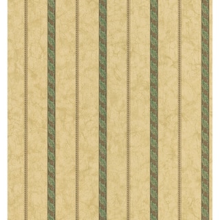 Brewster Beige Neutral Ornate Stripe Wallpaper