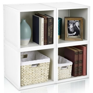 Stackable Eco-friendly 4-box Storage Cube with Optional Door