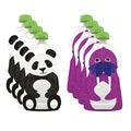 Squooshi Panda and Walrus Large Reusable Food Pouches (Pack of 8)