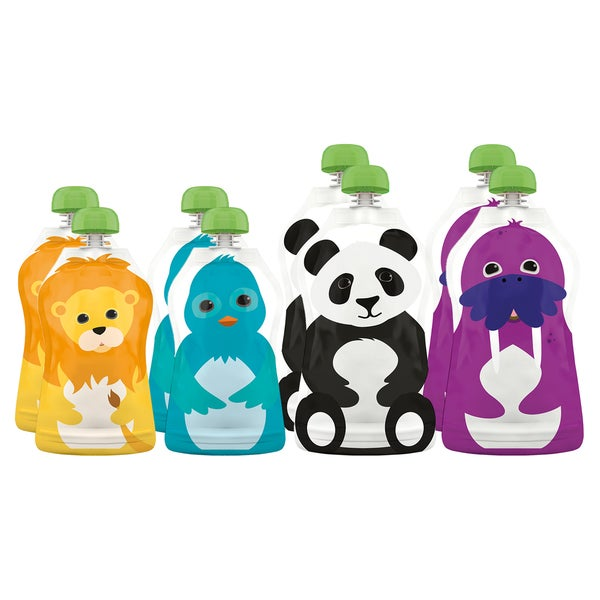 Squooshi Reusable Food Pouches in Assorted Sizes (Pack of 8)