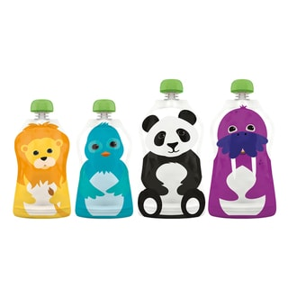 Squooshi Reusable Food Pouches in Assorted Sizes (Pack of 4)